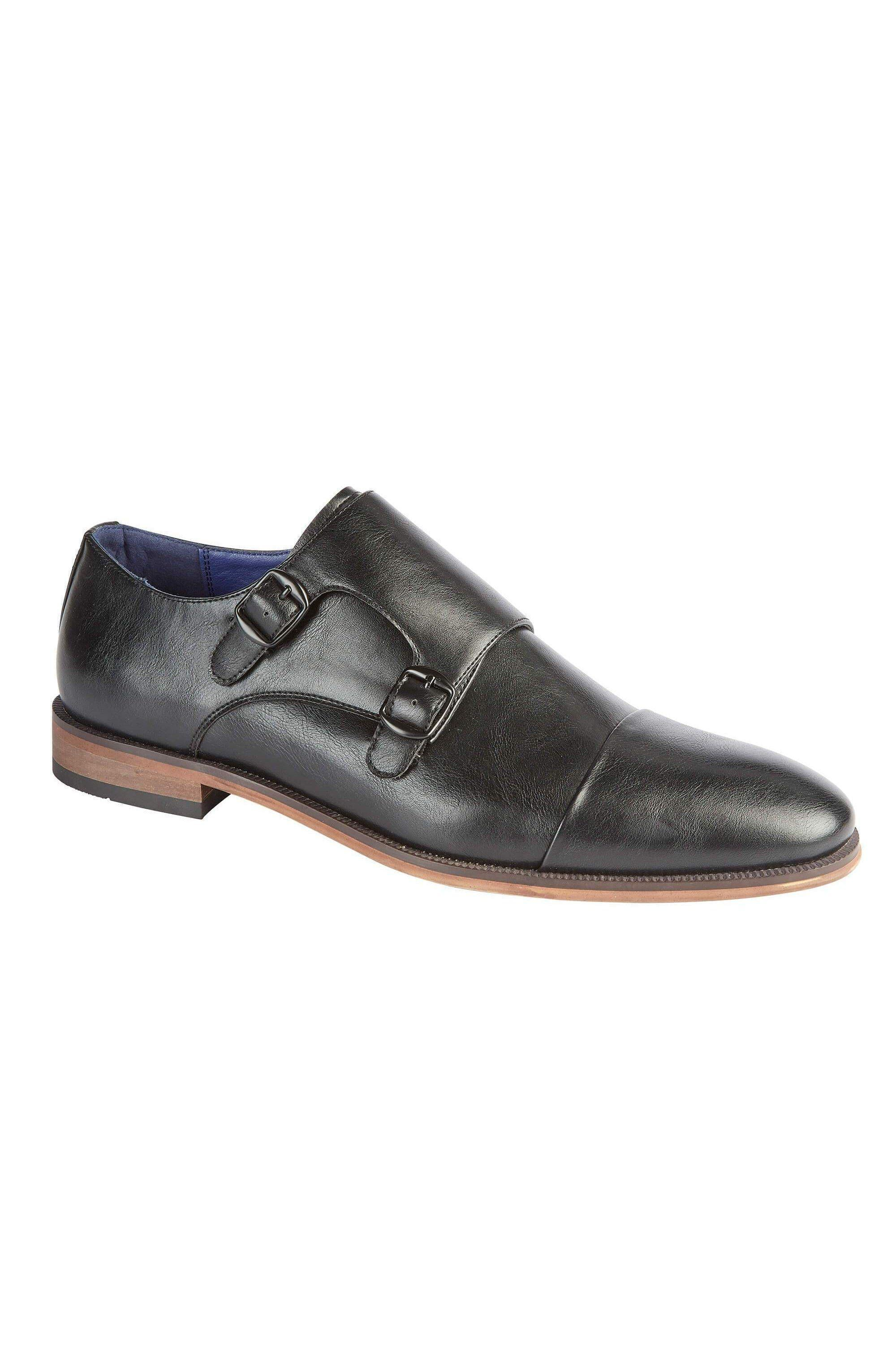 Footwear - Monk Strap Shoes Black