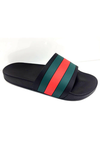 Footwear - Red Green Slides