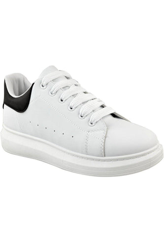 Footwear - Thick Sole Trainers White