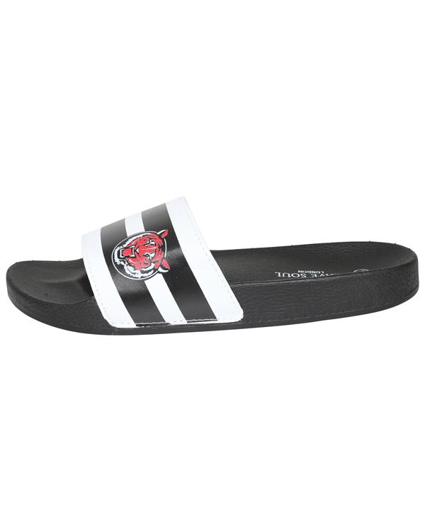 Footwear - Tiger Slider Black