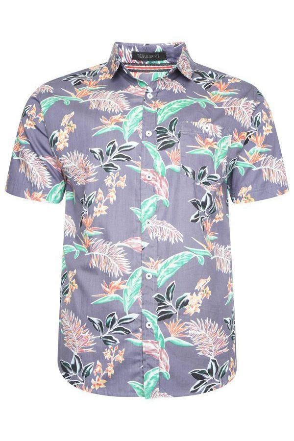 Hawaiian Shirt Grey