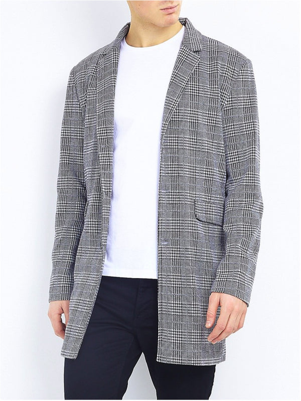 Jackets - Charles Check Overcoat Grey