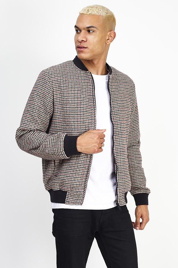 Jackets - Check Bomber Jacket