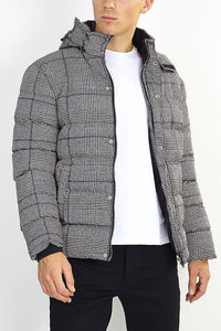 Jackets - Check Puffer Grey