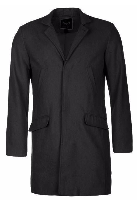 Jackets - Classic Wool Blend Over Coat Black