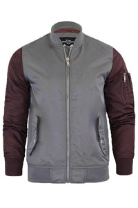 Jackets - Contrast Bomber Jacket Grey
