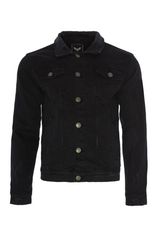 Jackets - Distressed Denim Jacket Black
