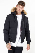Load image into Gallery viewer, Jackets - Fur Hood Bomber Black