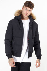 Jackets - Fur Hood Bomber Black