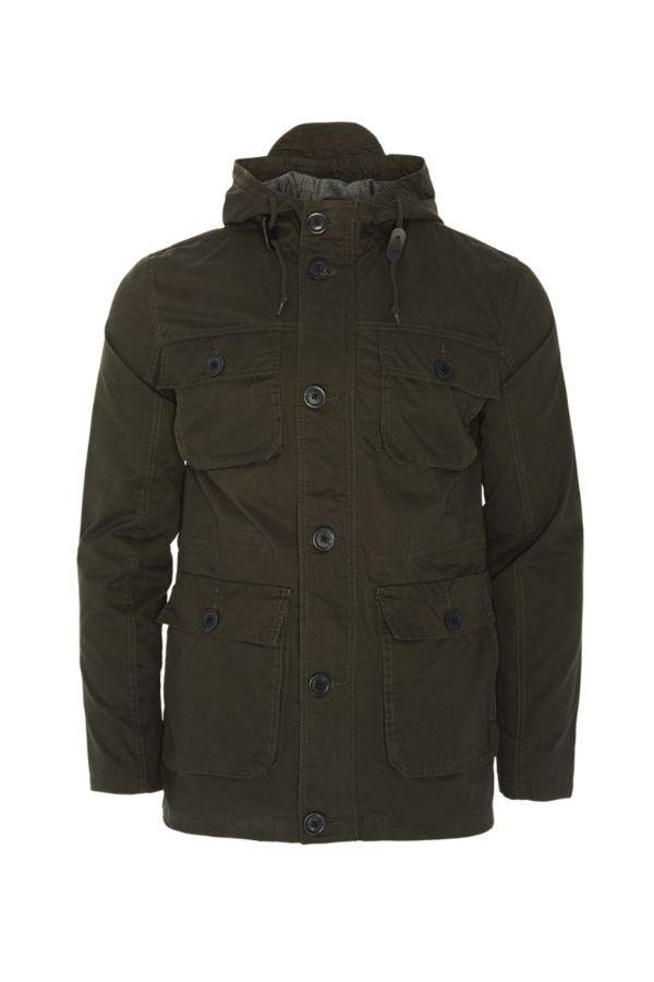 Jackets - Hooded Military Parka Khaki