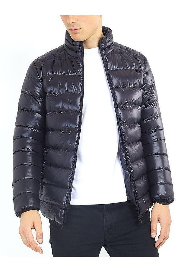 Jackets - Lightweight Puffer Black Shine
