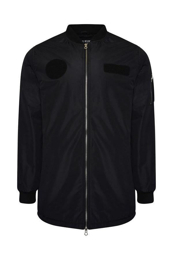 Jackets - Longline MA1 Flight Jacket Black