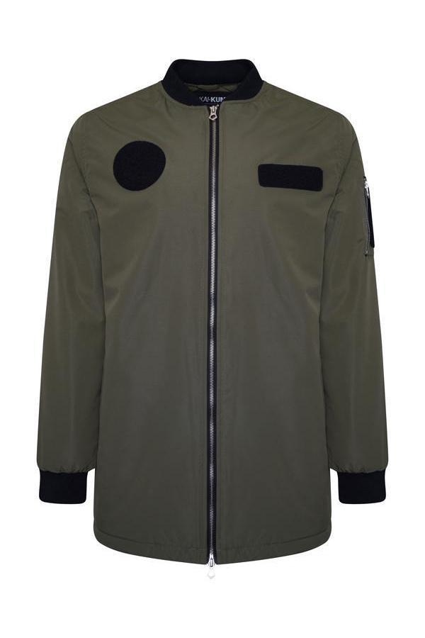 Jackets - Longline MA1 Flight Jacket Khaki