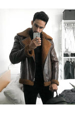 Load image into Gallery viewer, Jackets - Lux Pilot Jacket Brown