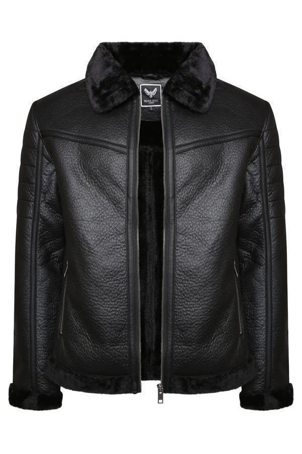 Jackets - Luxury Fur Lined Blackout MA2 Jacket