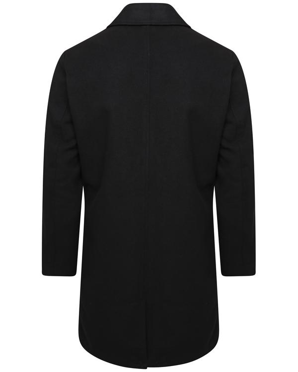 Jackets - Luxury Wool Blend Over Coat Black