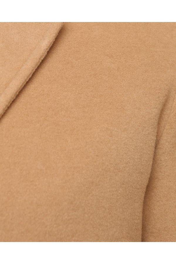 Jackets - Luxury Wool Blend Over Coat Camel