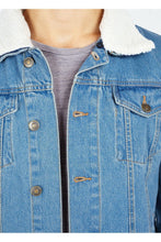 Load image into Gallery viewer, Jackets - Sherpa Denim Jacket