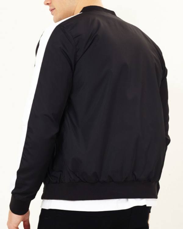 Jackets - Speed Stripe Bomber Jacket Black