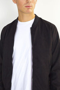 Jackets - Suede Bomber Jacket Black
