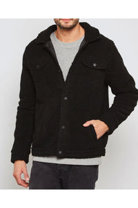Jackets - Teddy Fleece Jacket Black