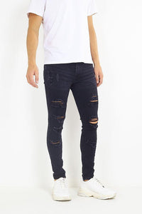 Jeans - Skinny Destroyed Jeans Black