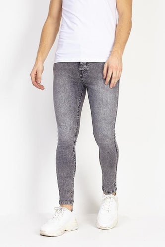 Jeans - Skinny Washed Jeans Grey