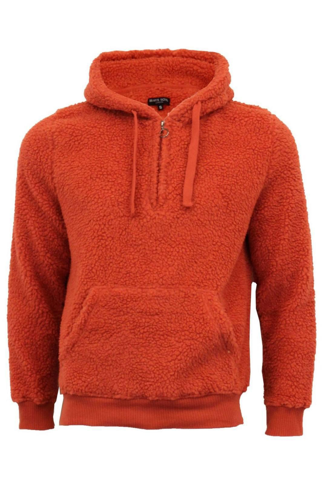 Jersey - Sherpa Fleece Hoodie Orange