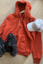 Load image into Gallery viewer, Jersey - Sherpa Fleece Hoodie Orange