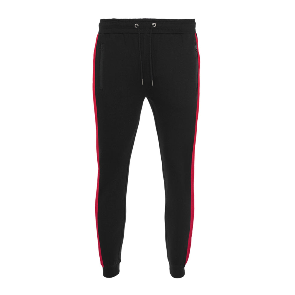 Jersey - Skinny Speed Stripe Tracksuit Black Red
