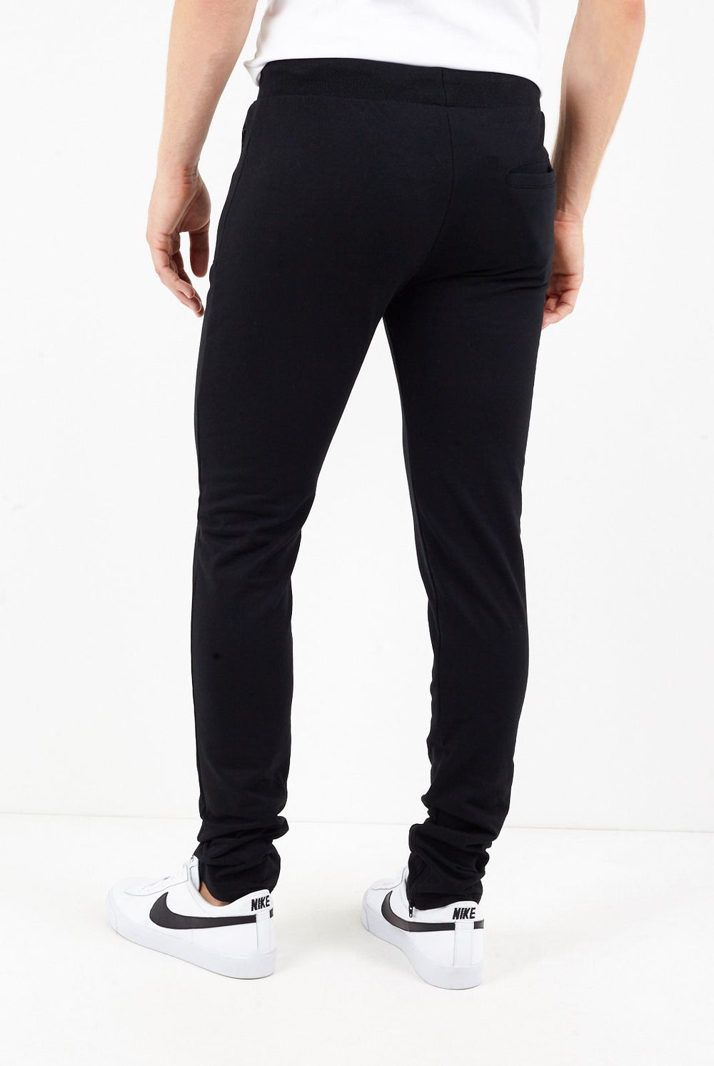 Jersey - Skinny Track Bottoms Black