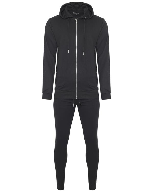 Jersey - Super Skinny Terry Tracksuit Black