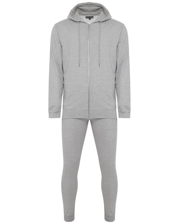 Jersey - Super Skinny Terry Tracksuit Grey