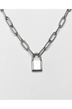 Load image into Gallery viewer, JEWELLERY - Padlock Pendant Silver