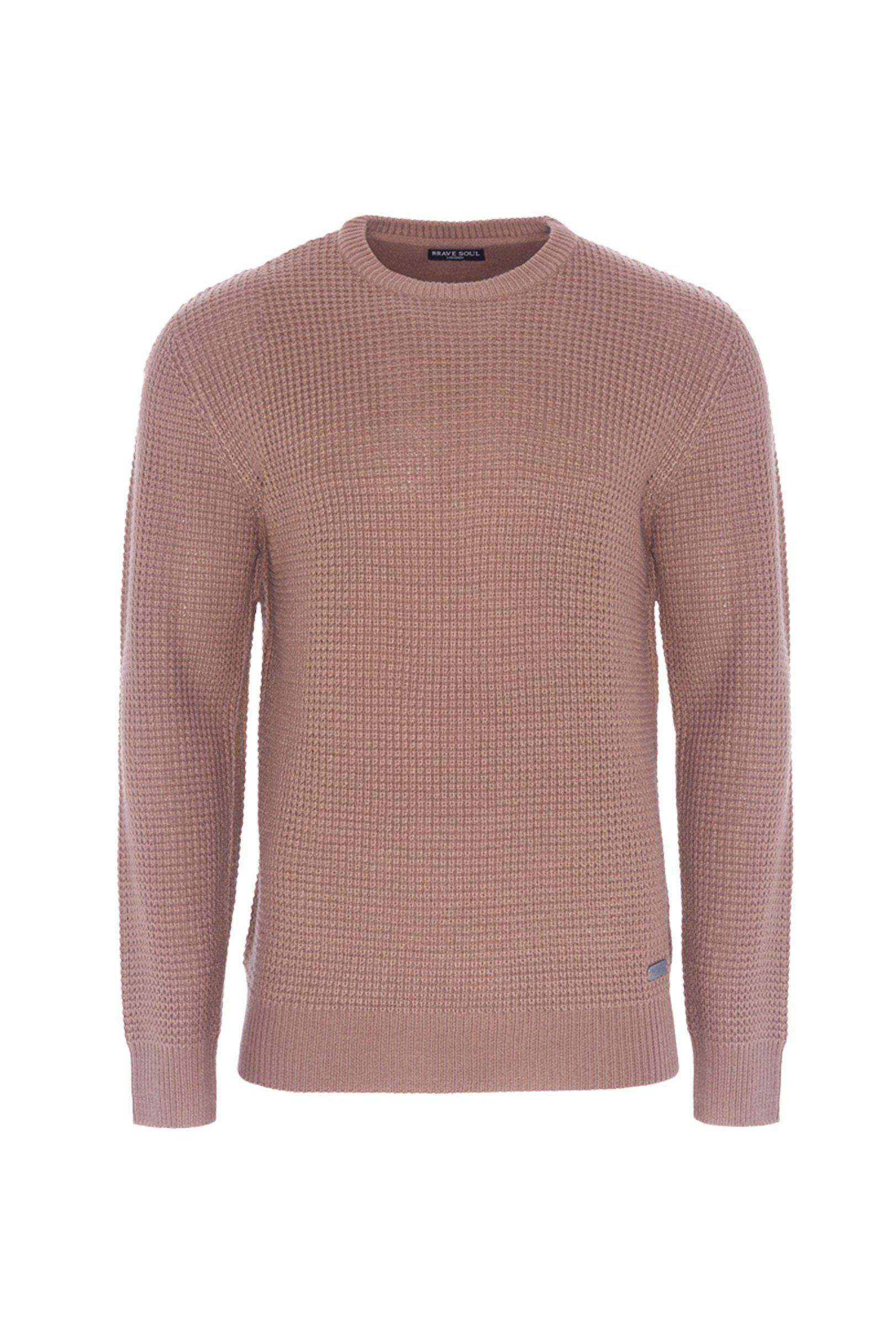 Knitwear - 0 Lightweight Fisherman Jumper Dusty Pink