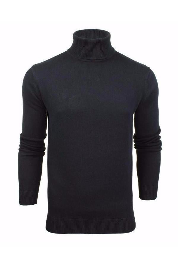 Knitwear - 0 Lightweight Roll Neck Knit Navy