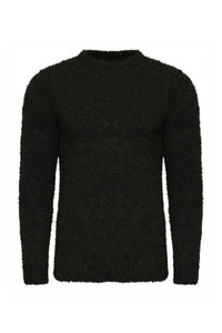 Knitwear - Brushed Soft Touch Fleece Jumper Black
