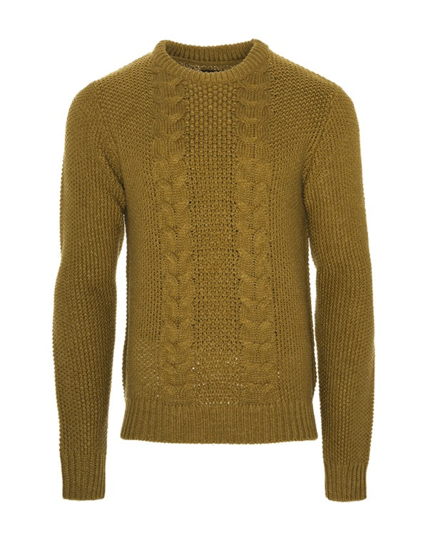 Knitwear - Cable Fisherman Jumper Camel