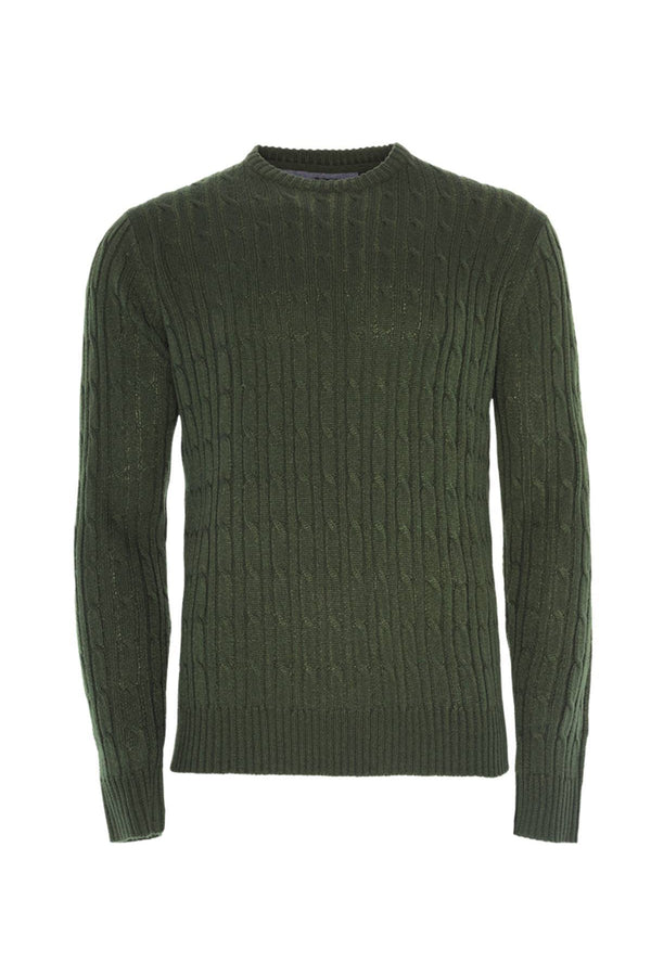 Knitwear - Cotton Cable Knit Jumper Khaki
