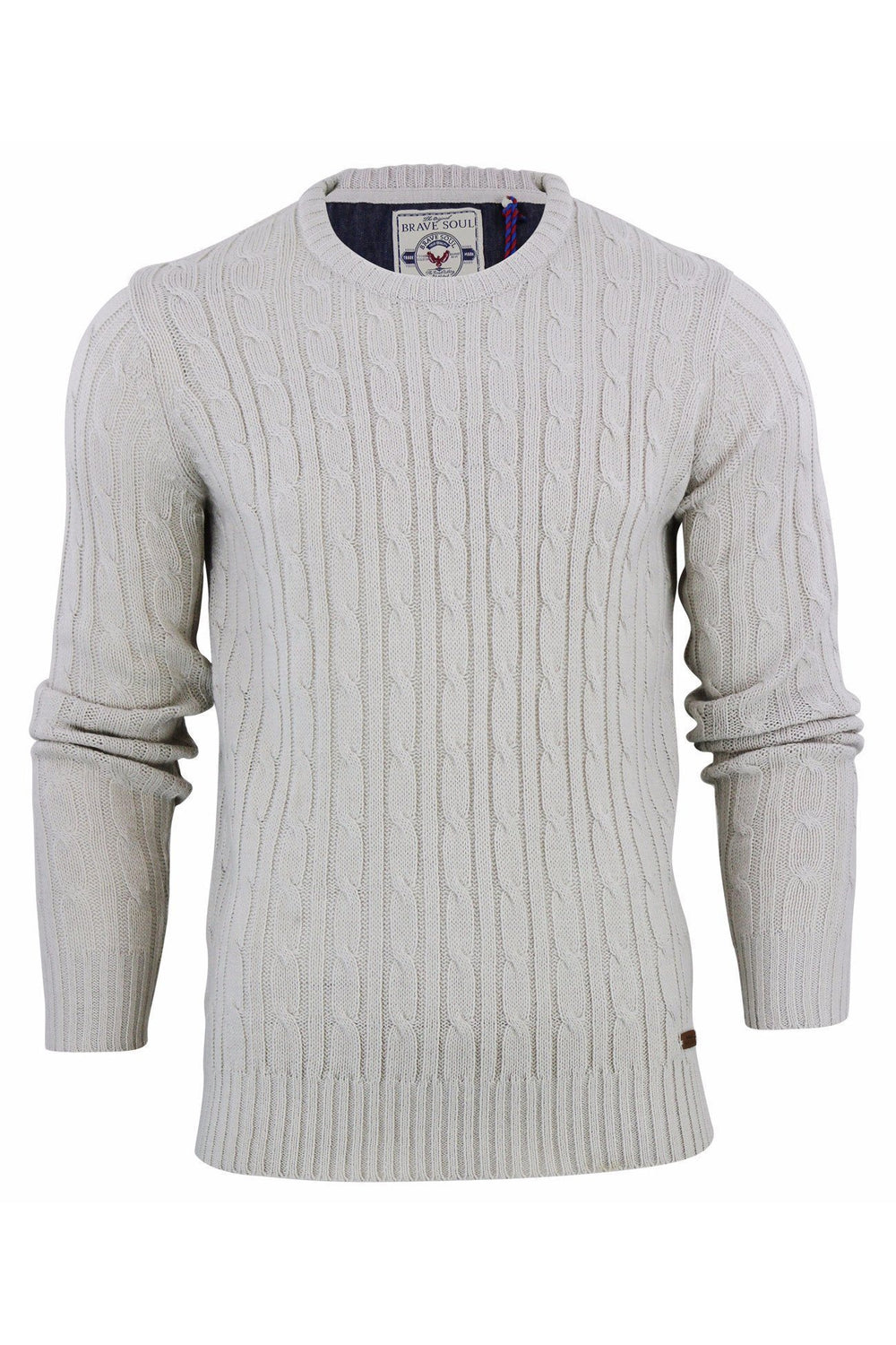 Knitwear - Cotton Cable Knit Jumper Oatmeal