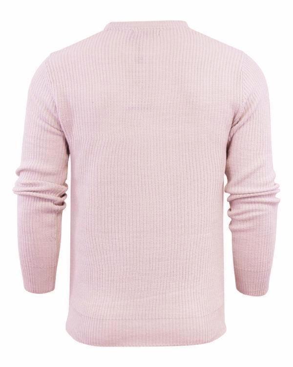 Knitwear - Cotton Fisherman Jumper Dusty Pink