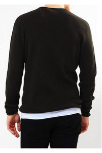 Knitwear - Crew Jumper Black Layer