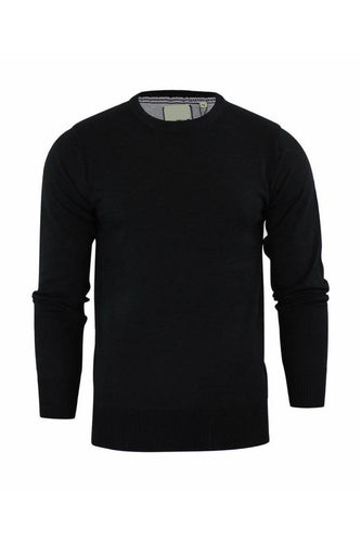 Knitwear - Crew Lightweight Knit Jumper Black