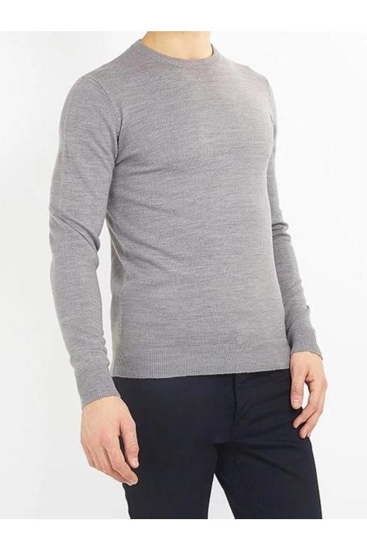 Knitwear - Crew Lightweight Knit Jumper Grey