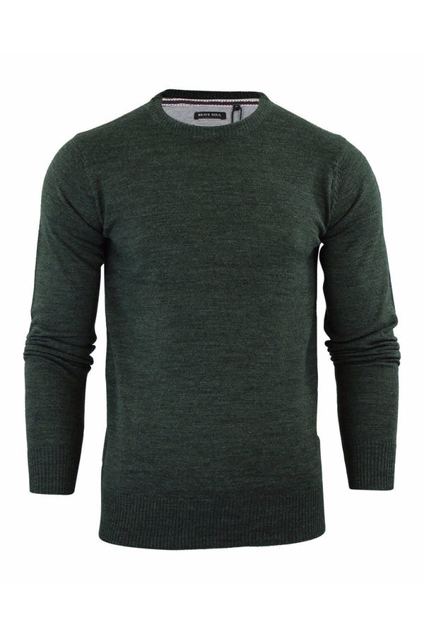 Knitwear - Crew Lightweight Knit Jumper Khaki