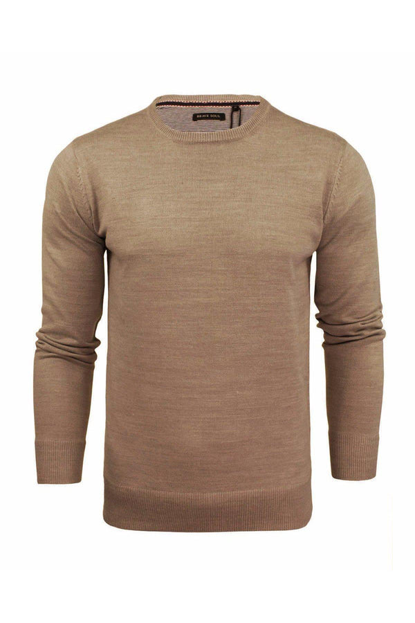 Knitwear - Crew Lightweight Knit Jumper Sand