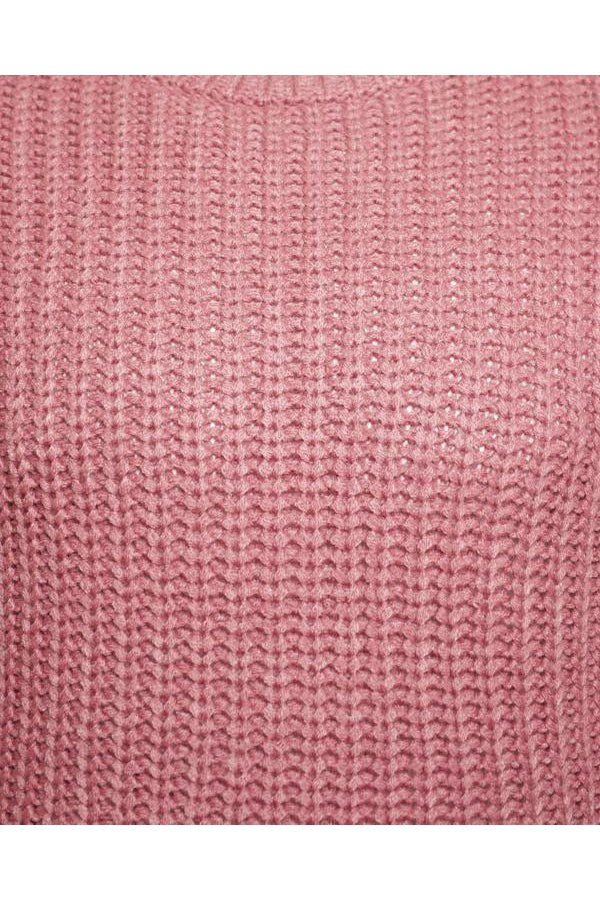 Knitwear - Fisherman Jumper Dusty Pink