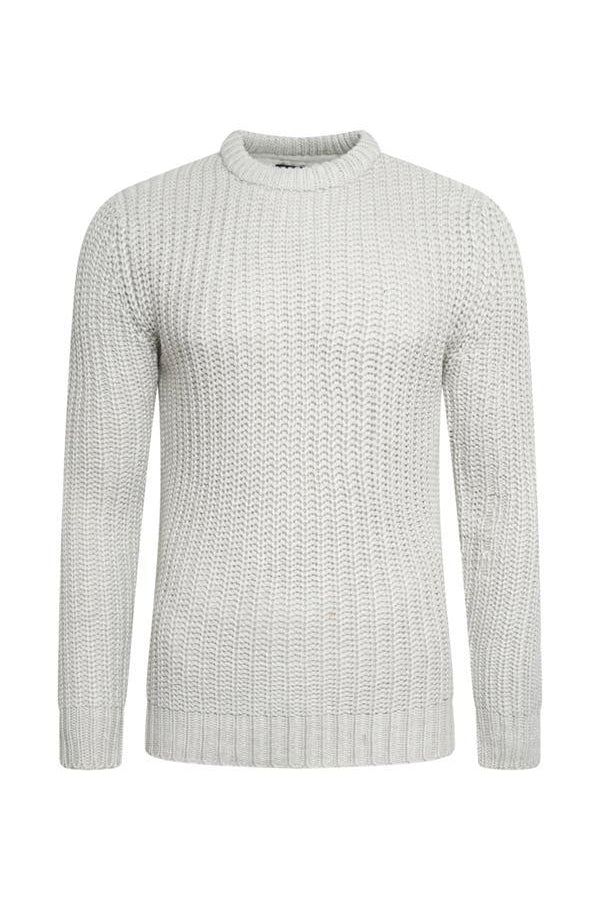 Knitwear - Fisherman Jumper Oatmeal