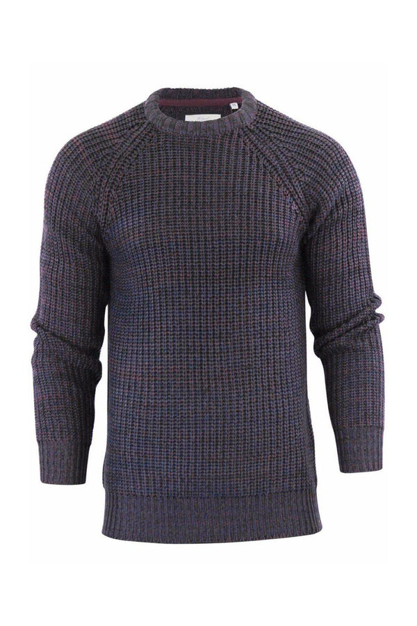 Knitwear - Fisherman Knit Jumper Burg Chcl