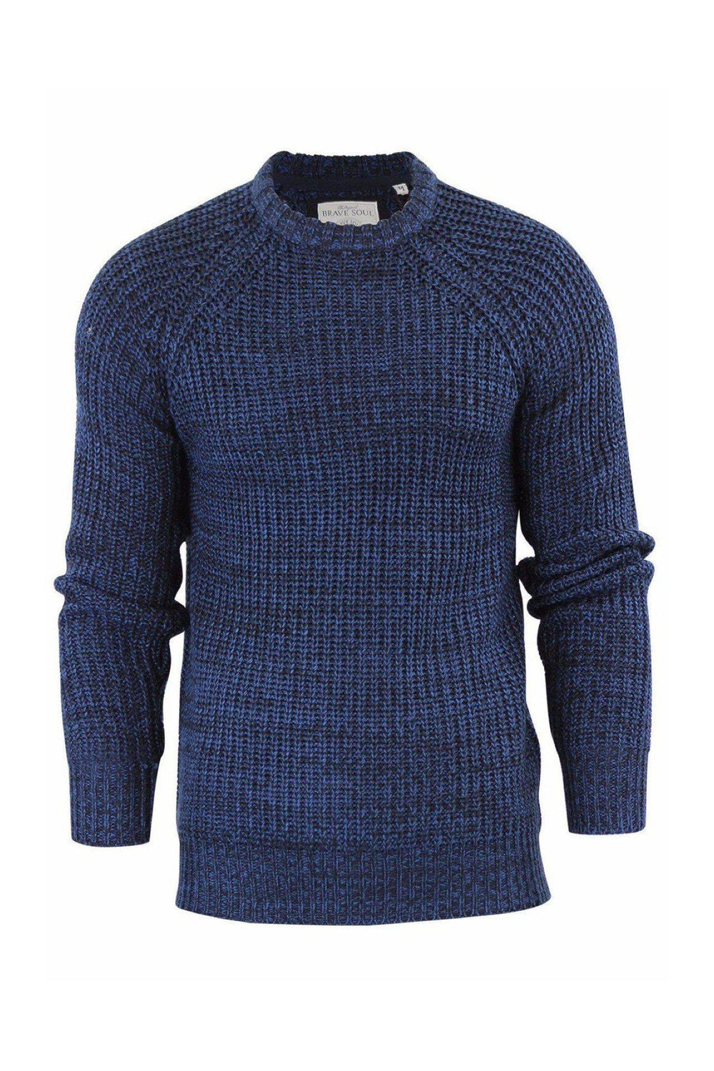 Knitwear - Fisherman Knit Jumper Navy Chcl